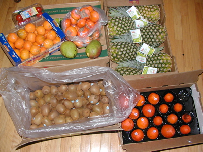 Cases of Winter Fruit